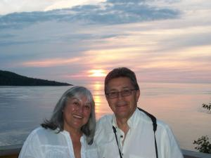 Judith and former Board President, Rudy Estrada, in Nova Scotia